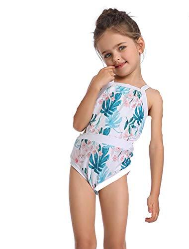 ZYLL EIN Stück Mama und ich Familie Badeanzug Mutter Tochter passende Kleidung Mama Baby Bademode Bikini Floral Mama Mädchen Oufits Look Set,Green,140
