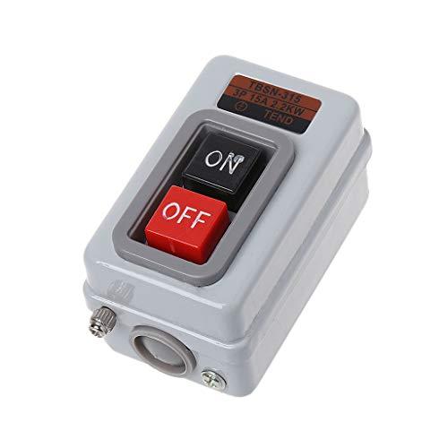 WDTong TBSN-315 AC 380 V 15A 2.2KW EIN/AUS 3 Phasen selbsthemmender Power-Druckschalter -