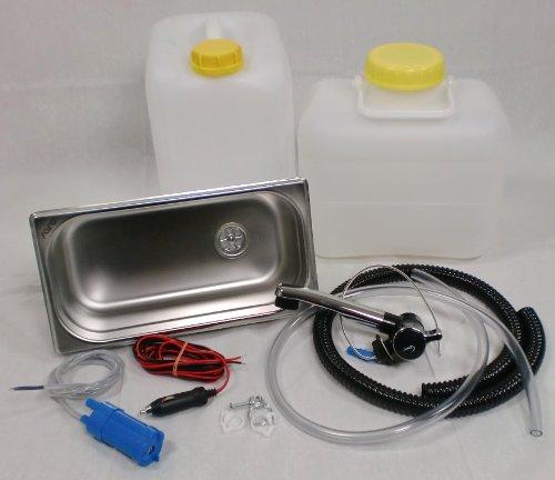 Wasseranlage Imbisswagen Verkaufsanhänger Campingküche Bausatz Spüle 325x176x100 London (ad-ideen) (N)