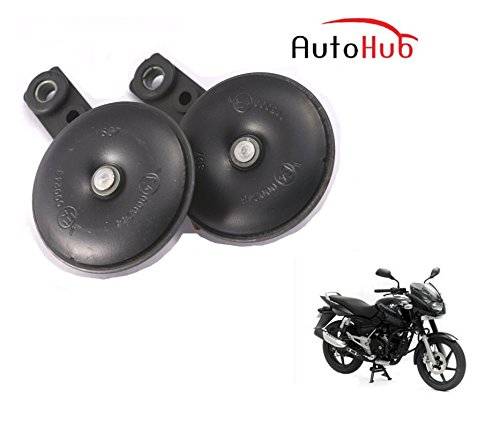 Auto Hub Uno Minda Bike Horn Set For Bajaj Pulsar 150 - Set of Two (Black)  available at amazon for Rs.499