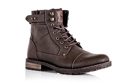 mens-ankle-boots-combat-zip-up-formal-casual-smart-lace-up-shoes-uk8-dark-brown