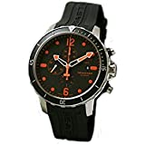 Tissot Seastar 1000 Chronograph Automatic Black Dial Rubber Strap Mens Watch T06