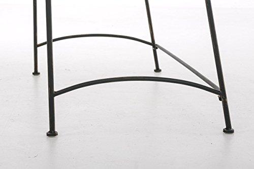 CLP Eisen-Gartenbank ADELE im Landhausstil, aus lackiertem Metall, 107 x 54 cm Bronze - 8