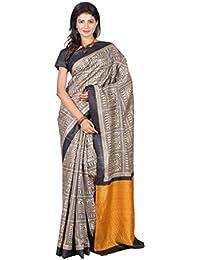 Silk Only Box Warli Print Raw Tussar Silk Saree