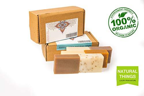 NaturalThings. Alle natürlichen organischen nachhaltigen handgefertigten Seifen, Premium-Qualität mit Zero Chemicals. 6 verschiedene Duftpackungen. 500 g