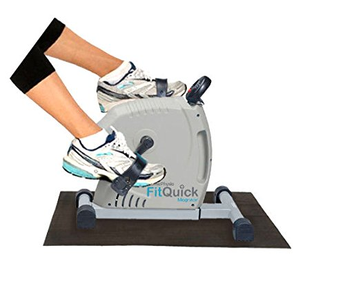 41mA86TSJLL - FitQuick - Premium Quality - Mini Exercise Bike - Quiet, Ultra Smooth Low Impact Magnetic Resistance - Rehabilitation for the Legs and Arms - Portable Easy to Use, ideal for compact spaces, use seated on a sofa or chair. It helps Build Muscles in the legs and arms plus Strengthens Joints and Ligaments while promoting circulation - Two directional cycling benefits a wider range of muscle groups - Variable Resistance from zero to moderate. enough for exercising the Heart and Cardiovascular System.
