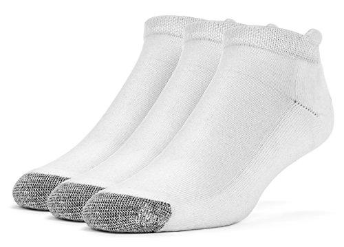 Galiva Herren Socken, Sportsocken, gepolsterte extra weiche, Baumwoll Laufsocken - 3 Paar, Groß, Weiß (Herren Low-cut-socken 100 Baumwolle)