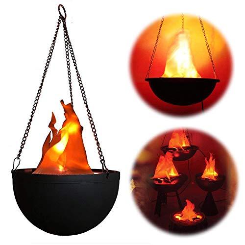 BIEE Lanterna decorativa, da appendere con luce LED, luce notturna, lampada a candela di fiamma effetto luci