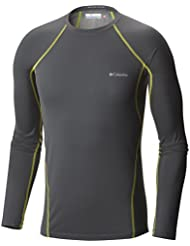 Columbia Midweight Stretch Long Sleeve Top - Camiseta térmica para hombre, color gris, talla L