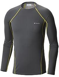 Columbia Midweight Stretch Long Sleeve Top - Camiseta térmica para hombre, color gris, talla M