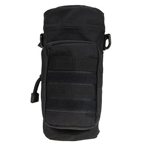 ?HuntGold Outdoor Wandern Reisen Taktisch Militärisch Reißverschluss Wasserflasche Tragen Beutel Tasche Schwarz