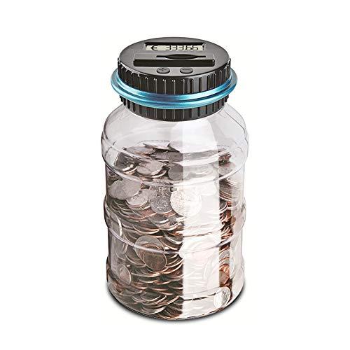 ZOLSON Geld sparen Box Digital Münze Bank Digitale Münze Zählen Sparbüchse mit LCD Display Geschenke für Kinder(Euro)