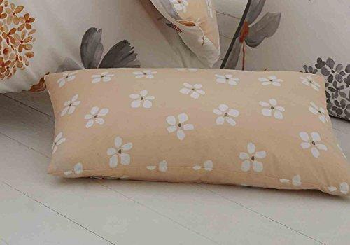 Premium Bettwäsche Bettbezug Auswahl Caroline orange Floral entworfen 200Fadenzahl Bettwäsche-Set mit Gratis Kissen Fall, Boudoir Cushion