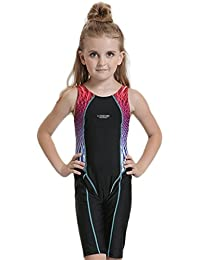 Peacoco Traje de baño para niña Bañador de entrenamiento para Youth Body de competición Bañador para niña Tamaños 140-176 6-15 años
