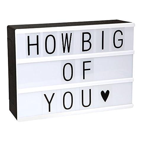 NICE DECO Gestaltbar LED Cinéma légère Box ~ Leuchten votre vie de la lumière Box ~ ~ Film Boite à lumière avec lettres flexibles