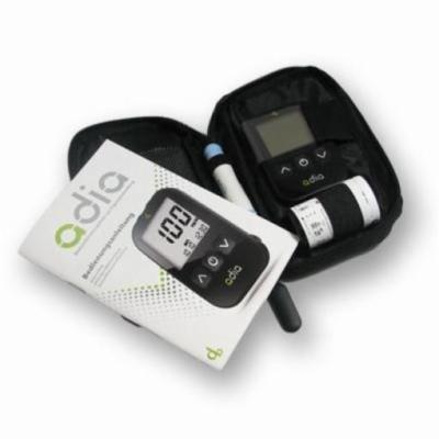 adia Blutzuckermessgerät [mmol/l] mit 10 Teststreifen - für Diabetiker zur Messung des Blutzuckers!