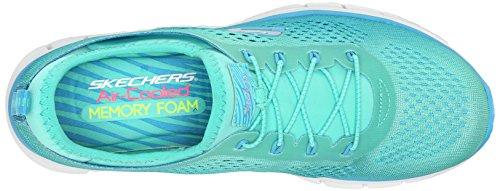 Skechers Glider Fearless, Sneakers basses femme Bleu - Blue (Blgr)
