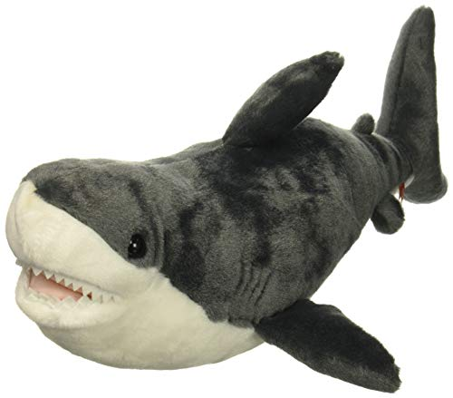 Check Out Wild Republic 22485 White Shark Plush Soft Toy Grey White