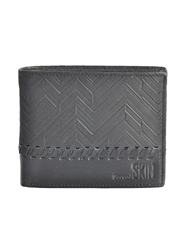 Second SKIN Black Coloured Genuine Leather Made Wallet For Mens