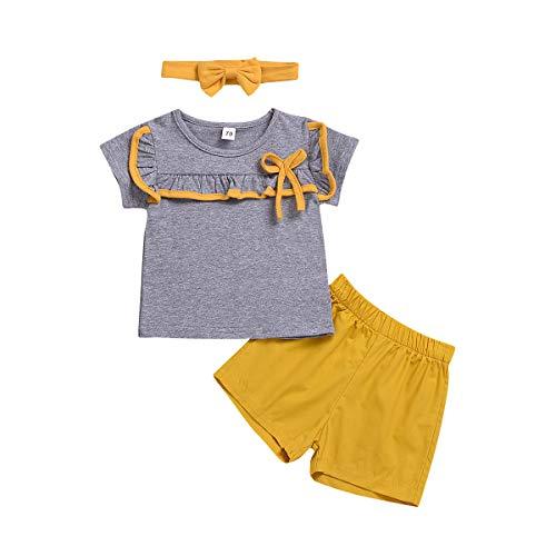 Geschwister Sommer Kleidung Set, passende Jungen und Mädchen Kurzarm T-Shirt Tops + Shorts Kleidung Set (Passende Shirts Für Mädchen)