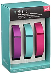 Fitbit Flex Set 3 Braccialetti, Adatto Flex, Small, Viola, Turchese, Rosa