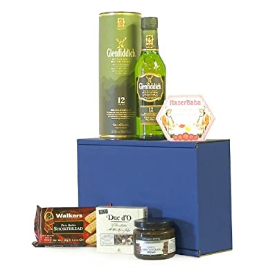 The Glenfiddich Whisky Dunkin Delights Gift Hamper - Includes 350ml 12 Years Old Glenfiddich Single Malt Scotch Whisky Gift ideas for - Valentines,Presents,Birthday,Men,Him,Dad,Her,Mum,Thank you,Wedding Anniversary,Engagement,18th,21st,30th,40th,50th,60th