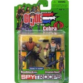 Gi Joe 3 3/4 Roadblock & Dreadnok Ripper 2 Pack Spytroops by G. I. Joe