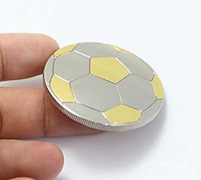 Football Coin, Unique 3-D Curved Football, 24 Carat 999/1000 Gold & Silver Plated, Highest Quality, 1.0 Oz, 4.0 cm, Football Medal, Football Trophy, Collectors Item & Limited. FREE Velvet Gift Pouch & FREE Delivery - Fulfilled by Amazon