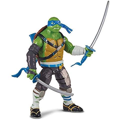 Giochi Preziosi - Tartarughe Ninja, Teenage Mutant Turtles Fuori Dall'Ombra : Personaggio Tartaruga Leonardo con Suoni, 15 cm