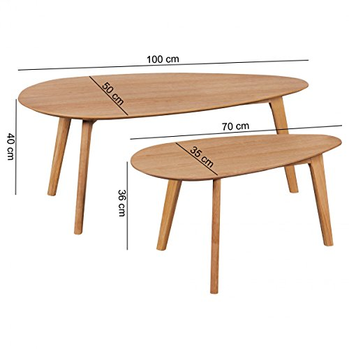 Wohnling tavolini estraibili tavolo scanio da caff in mdf for Mdf mobili soggiorno