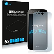 Savvies Protector Pantalla Acer Liquid Z330 Pelicula Protectora [6 Unidades] Screen Protector