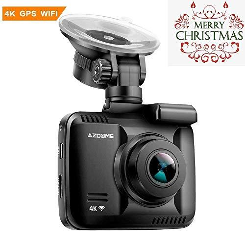 """AZDOME Caméra de Voiture Dashcam 4K GPS WiFi Caméra Embarquée Voiture FHD 2160P 170°Angle WDR 2.4""""LCD Enregistrement en Boucle Détection Mouvement Monitor Stationnement(GS63H)"""