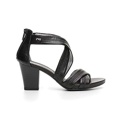 41257d3d187aa Nero Giardini sandalo con tacco alto P717590D 100 LEON NERO GOMMA VIENNA  6199 NE nuova collezione