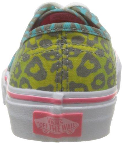 Vans T Authentic, Baskets mode mixte bébé Bleu (Animal Multi F)