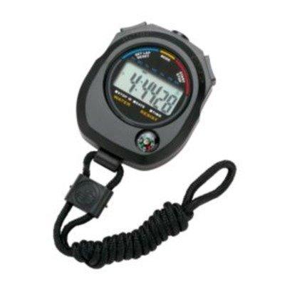 Tim olimpus TIM902B Cronómetro deportivo LCD, temporizador, para ejercicios de fitness, gimnasio, Correr, Escuela, Ciencia y atletismo, Negro