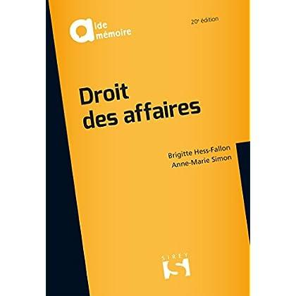 Droit des affaires - 20e éd.