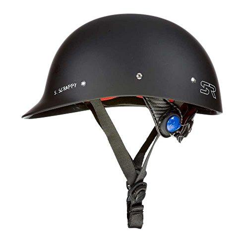 Shred Ready Wildwasser Helm Kajak Helm SUP Wassersporthelm Wakeboarden Wakeboard Helm (schwarz matt)