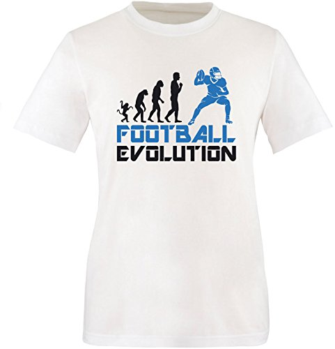 EZYshirt® Football Evolution Herren Rundhals T-Shirt Weiss/Schwarz/Blau