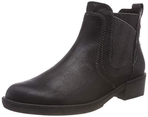 Tamaris Damen 25309-21 Chelsea Boots, Schwarz (Black 1), 37 EU