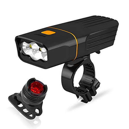 ALFLASH Fahrradlicht Bike Light 1000 Lumen LED Fahrradbeleuchtung Set USB Wiederaufladbare Wasserdichtes Frontlichter Rücklichter Lampensets (Combination 1)