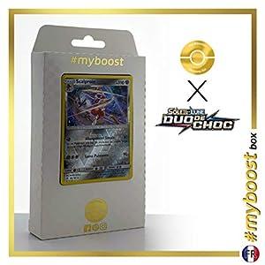 Scalproie (Bisharp) 105/181 Holo Reverse - #myboost X Soleil & Lune 9 Duo de Choc - Box de 10 Cartas Pokémon Francés