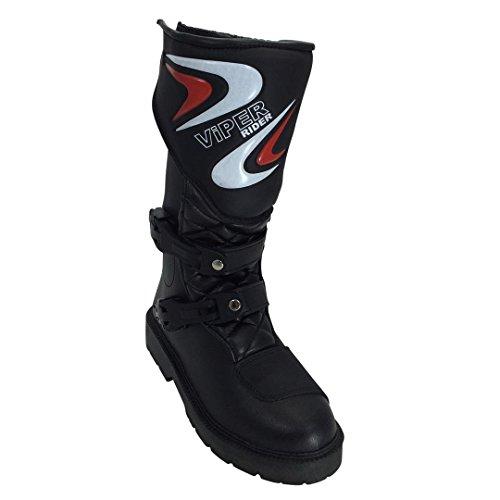 Viper K156 Kinder Motocross MX Stiefel – Schwarz, 35/2 - 4