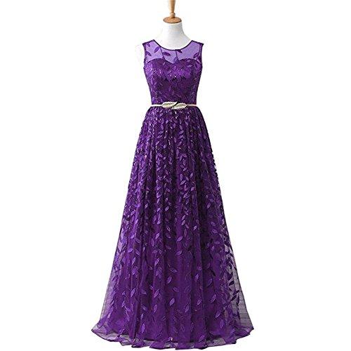 kleider frauen chiffon netz garn abend hochzeit braut brautjungfern partei geburtstag bankett lange kleid solid farbe . purple . us20 (Brown Floral-neckholder-kleid)