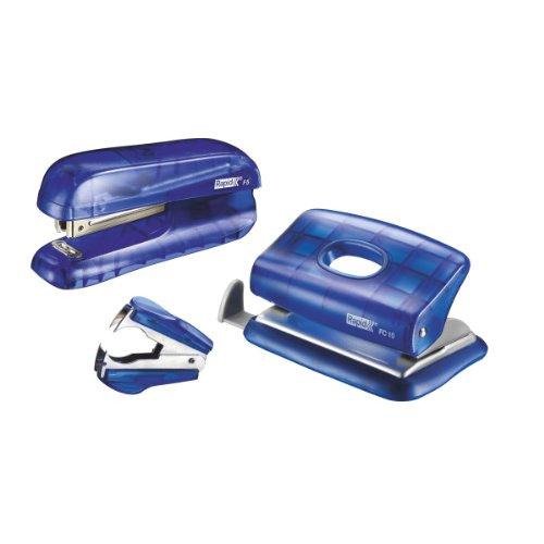 Rapid F5 Set Mini-Hefter und Locher, Blau