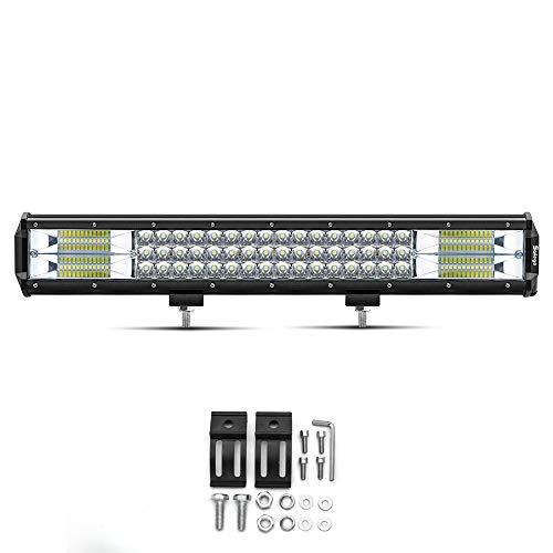"""20\"""" LED Lichtleiste Safego Triple Row 288W 23000LM Wasserdicht Flood Spot Combo Beam Lichtleiste Super Helle Offroad-Licht Driving Nebelscheinwerfer für Pickup J-eep ATV UTV SUV Bootstraktor"""