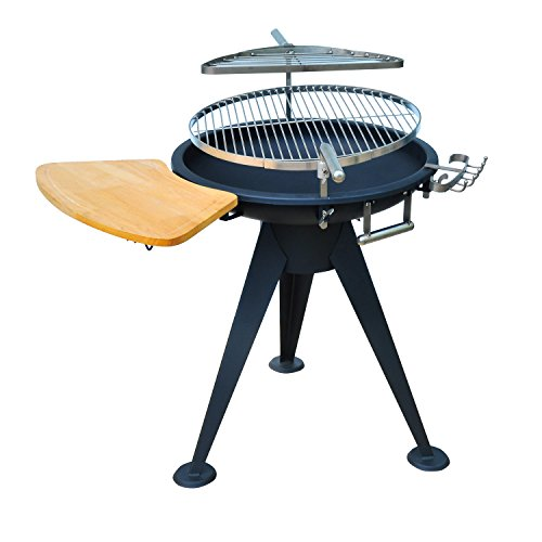 outsunny outdoor garden patio adjustable barbecue double grill charcoal bbq party cooking fire. Black Bedroom Furniture Sets. Home Design Ideas