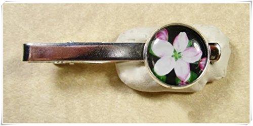 JUN Apple Blossom Krawatte, Apple Blossom Krawatte Clip, Dome Glas Schmuck, Pure Handgefertigt