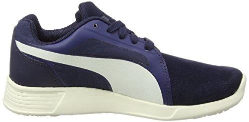 Puma Unisex-Erwachsene St Trainer Evo SD Low-Top, Black-Black Blau (peacoat-whisper white 03)
