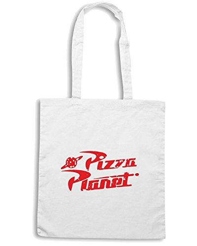 T-Shirtshock - Borsa Shopping TGAM0059 Pizza Planet Bianco