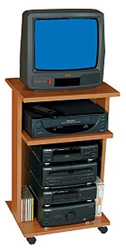 Carrello Porta TV 331, Noce scuro, L 41 cm x P 35 cm x H 74 cm